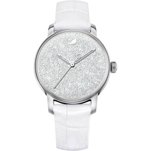 Crystalline Hours Watch, Silver, Stainless Steel Tone