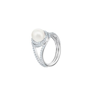Originally Ring, White, Rhodium Shiny